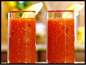 Bloody Mary shots.