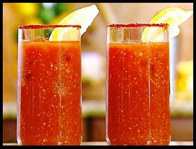 Bloody Mary shots.