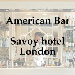 American Bar - Savoy hotel Londona